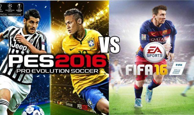 FIFA 16 VS PES 16
