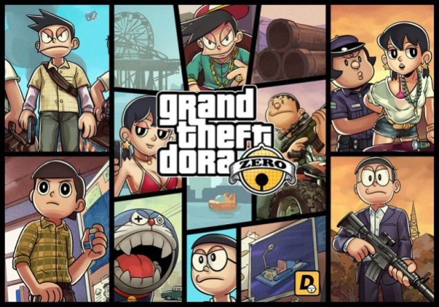 Grand Theft Auto Anime Doraemon