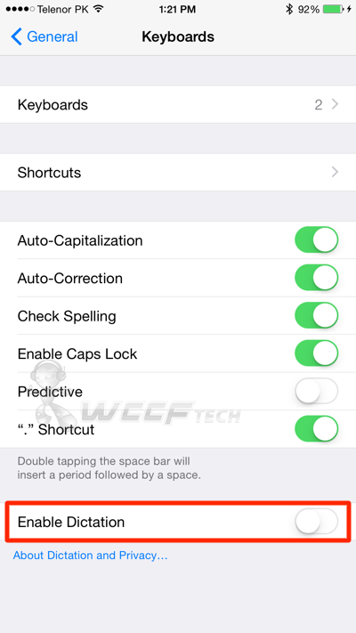 iphone dictation settings how to enable disable siri dictation on iphone 11803