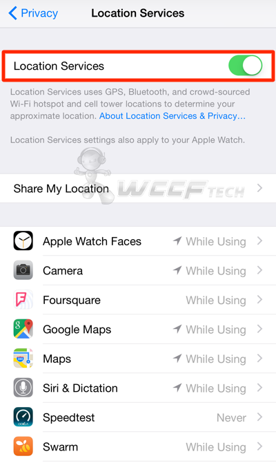 how to make location services work on iphone