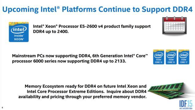 Intel Broadwell-EP Xeon E5-2600 V4 DDR4 Platform