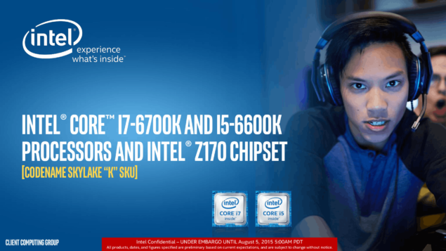 Intel Skylake-K Core i7-6700K and Core i5-6600K