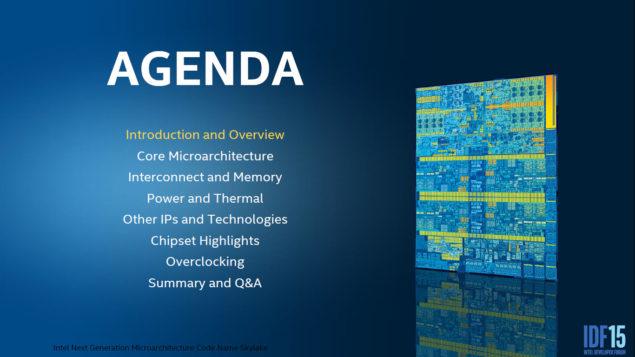 Intel Skylake Microarchitecture_Agenda 1
