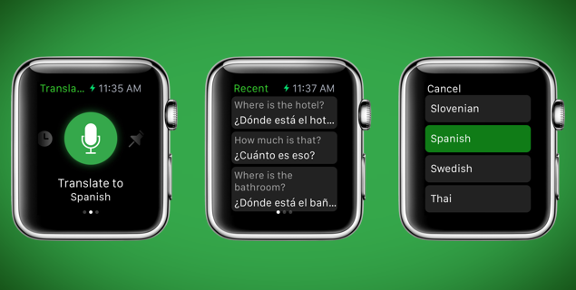 Image result for Microsoft translator for apple watch