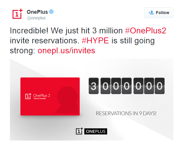 OnePlus 2 Hits 3 Million Invites; Will Company Be Able To Reach 5 Mil Before 2016?