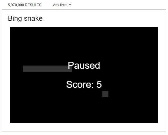 bing snake game
