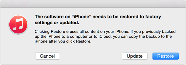 iTunes recovery