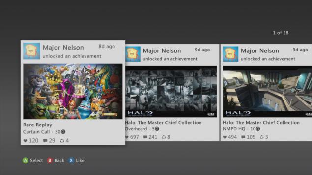 Xbox 360 Activity Feed