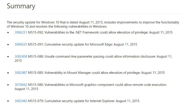 install windows 10 cumulative update