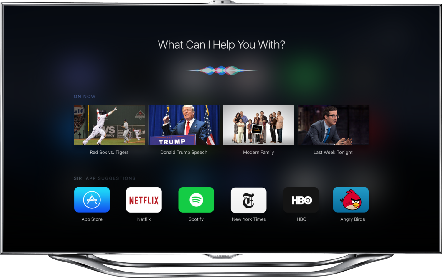 Apple TV 4 UI With Third-Party Apps, Siri, New UI ...
