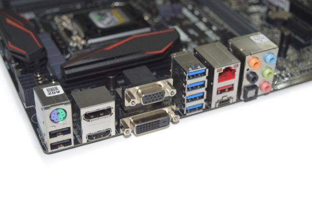ASUS Z170 Pro Gaming Motherboard_IO