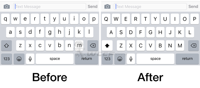 iOS 9 keyboard