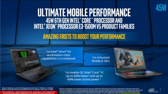 Intel Skylake-H Processors - Mobile Skylake-K and Xeon Processors
