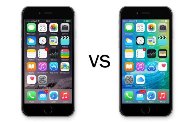 iOS 8 vs iOS 9