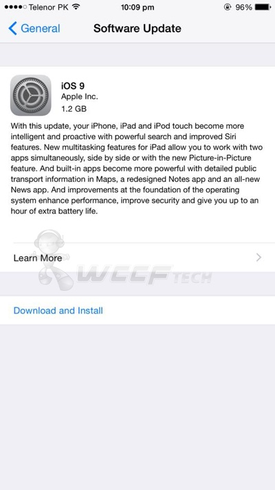 Download iOS 9 Final IPSW For iPhone, iPad, iPod touch