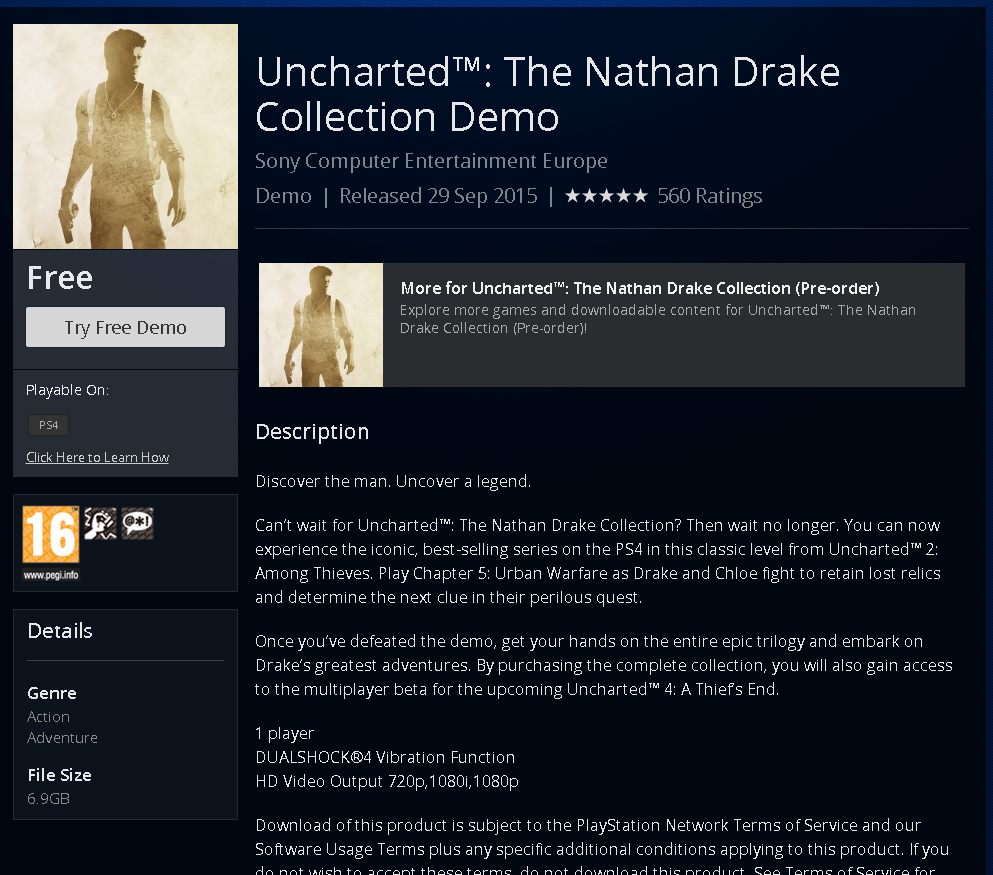 Uncharted Nathan Drake Collection Demo Rolling Out On Ps Stores