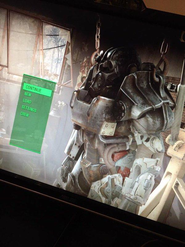 Fallout 4 Main menu