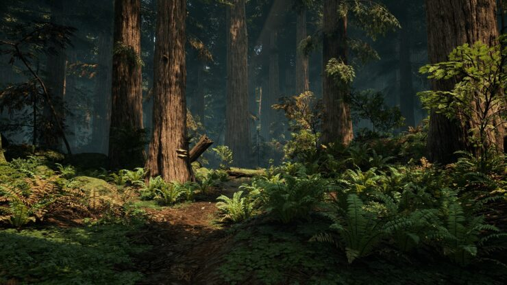 Unreal Engine 4 Forest Environment by DICE Vegetation Artist
