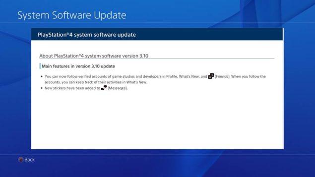 PS4 Update 3.10