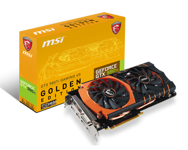 MSI GTX 980 Ti Golden Gaming Edition