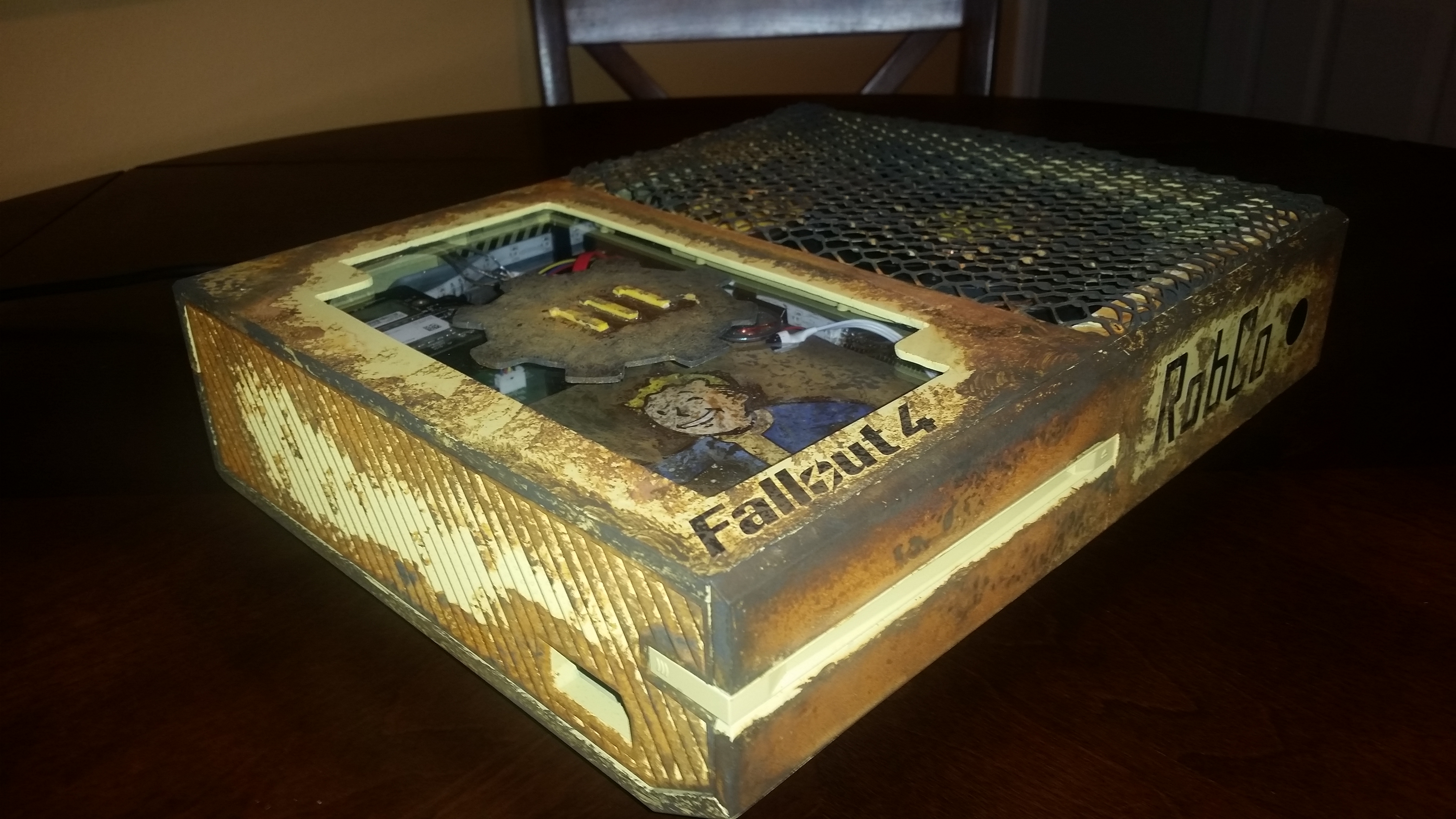 Book Cover Handmade Xbox One : Fallout custom modded xbox one looks stellar