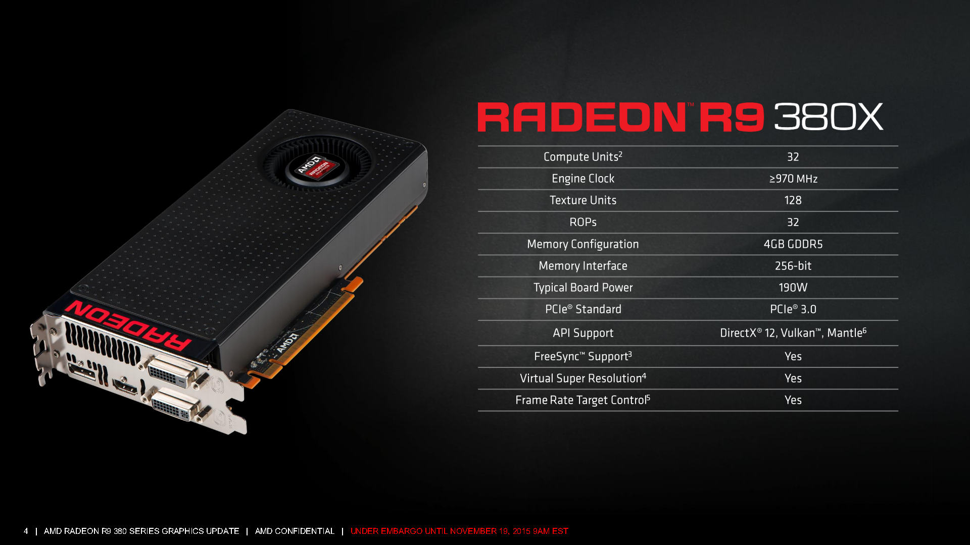 AMD Radeon R9 380X Officially Launched at $229 US - Antigua