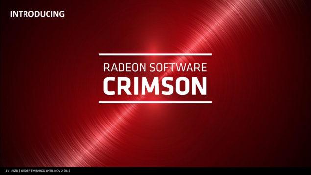 AMD Radeon_Crimson Driver_Crimson