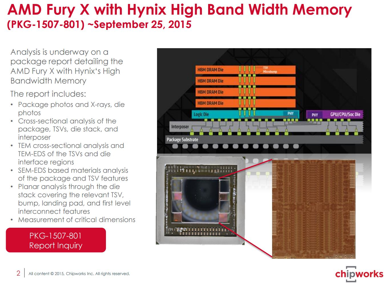 AMD HBM Die TSV X-Ray ChipWorks 2