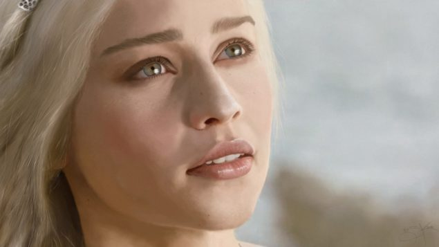 Deanerys Targaryen close up portrate