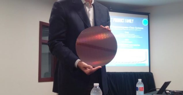 Intel's Knight Landing Wafer