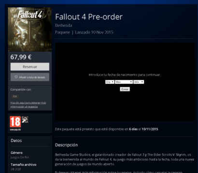 Fallout 4 File Size Revealed For PS4