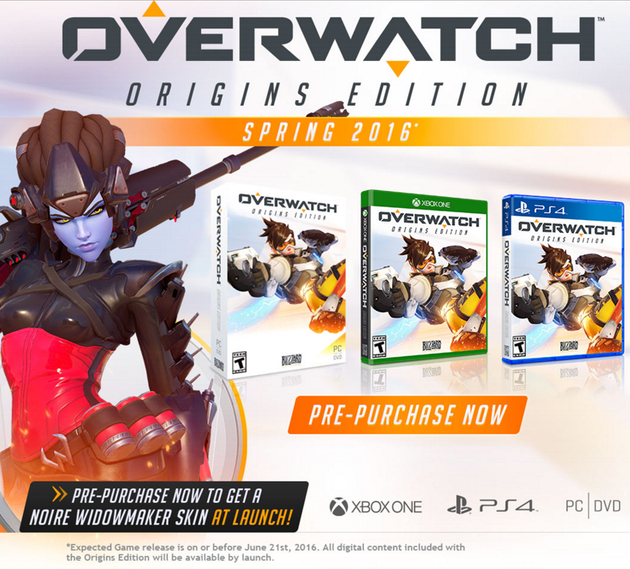 Overwatch Origins Edition Launching In Spring 2016 For PC, PS4 & XB1