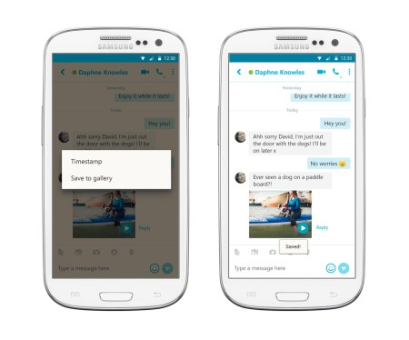 Skype Brings The Ultimate Update For Android: Saving Video Messages