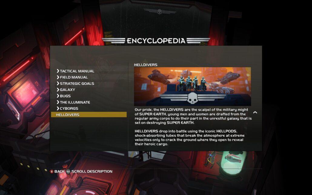Helldivers 01 - Encyclopedia
