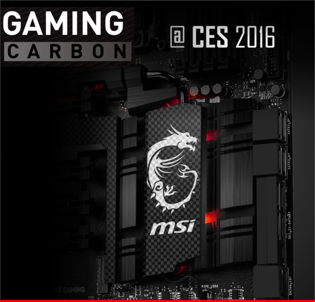 MSI X99 Gaming Carbon CES 2016
