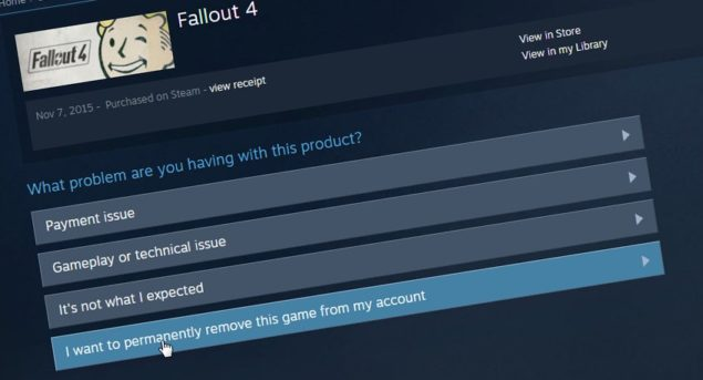 Valve Now Allows You to Permanently Delete/Remove Games From