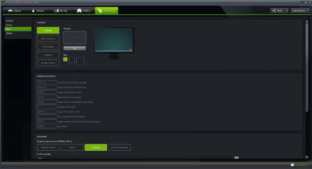 geforce-experience-early-access-share-beta-december-update-screenshot-preferences