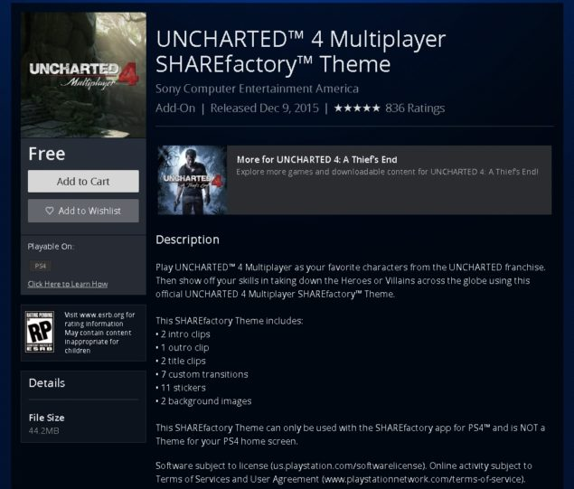 Uncharted 4 Sharefactory
