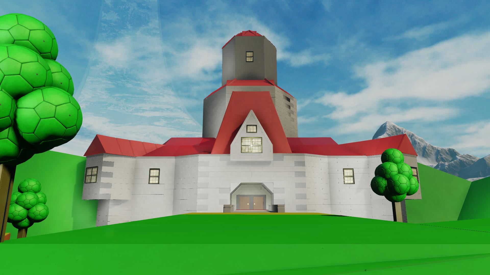 Halo 5 Player Recreates Super Mario 64 Princess Peach Castle In