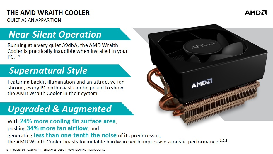 AMD Wraith CPU Cooler Slide