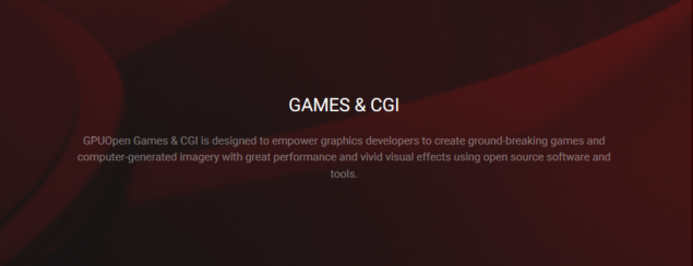 GPUOpen Games and CGI