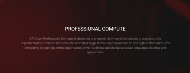 GPUOpen Professional Compute