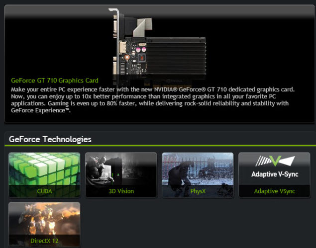 GeForce GT 710 Features