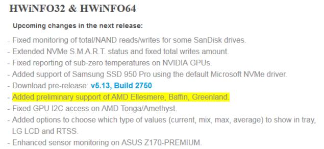 HWINFO AMD Polaris GPU