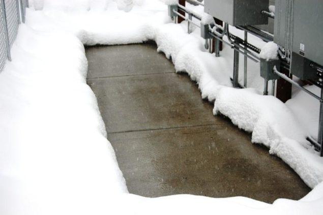 deiced sidewalk