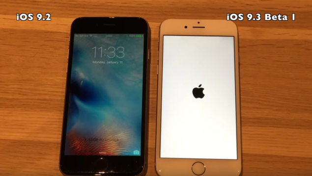 iOS 9.3 Beta 1 vs iOS 9.2 Speed Test
