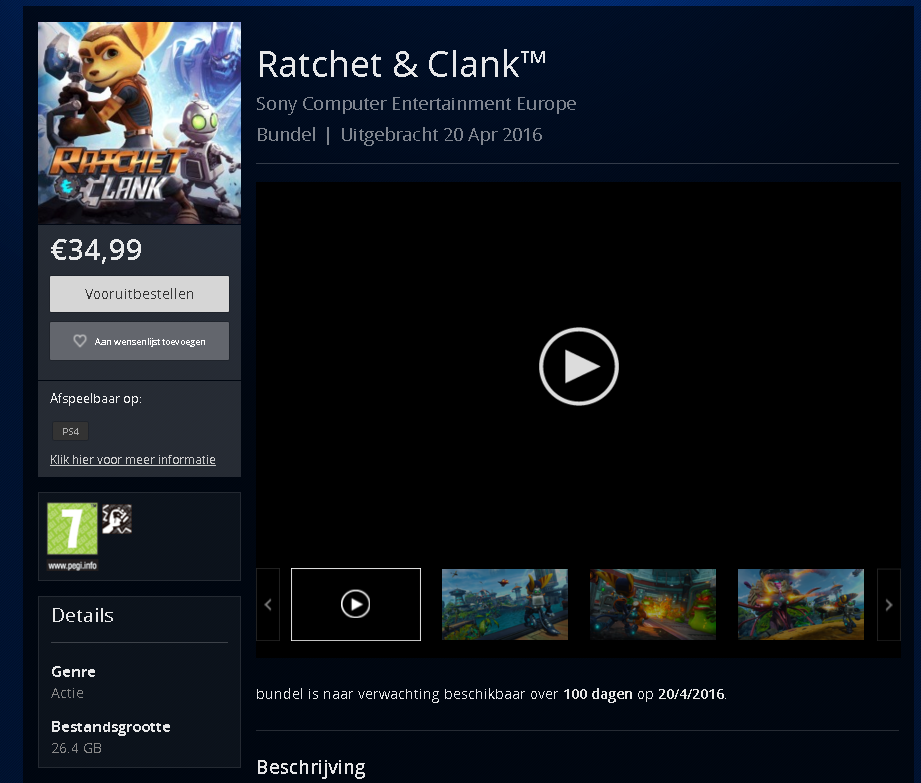 Ratchet and clank ps4 release date in Perth