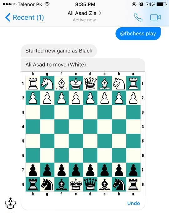 how to start a chess game on facebook