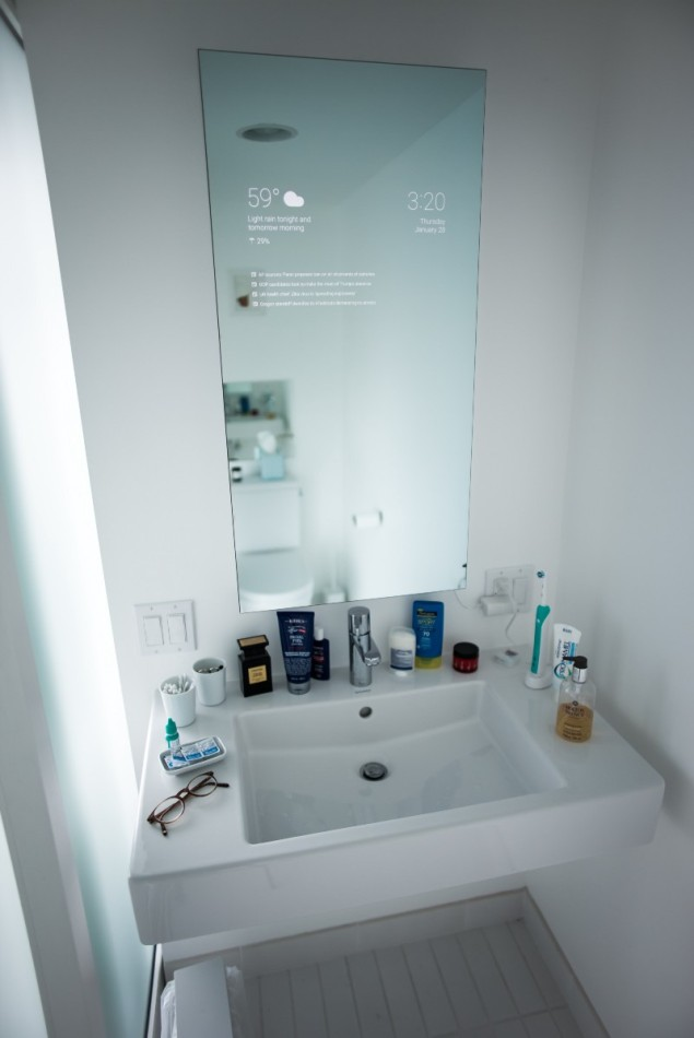 smart bathroom mirror this insanely awesome and futuristic bathroom smart mirror 14517