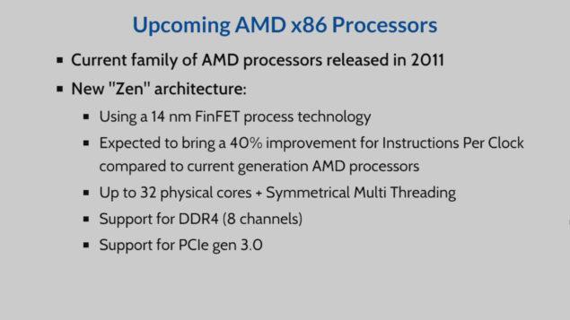 AMD Zen Based Opteron Processor